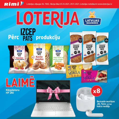 IZCEP PATS loterija veikalos Rimi