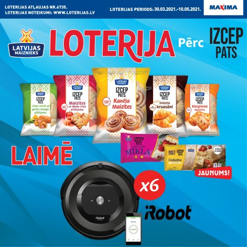 IZCEP PATS loterija veikalos Maxima