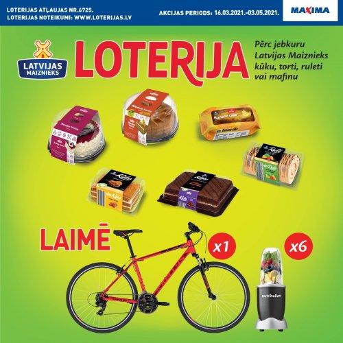 Kūkas, tortes, ruletes, mafini! Produktu loterija Maxima veikalos