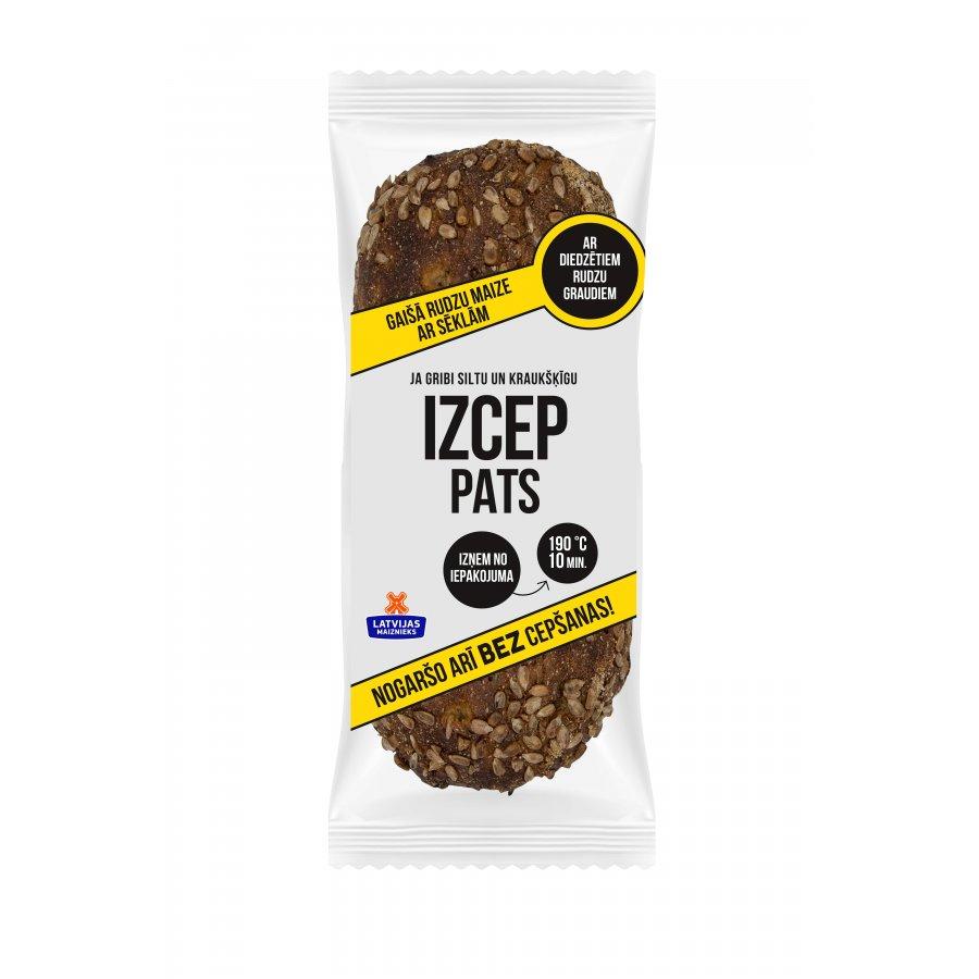 """Gaišā rudzu maize ar sēklām """"IZCEP PATS"""""""