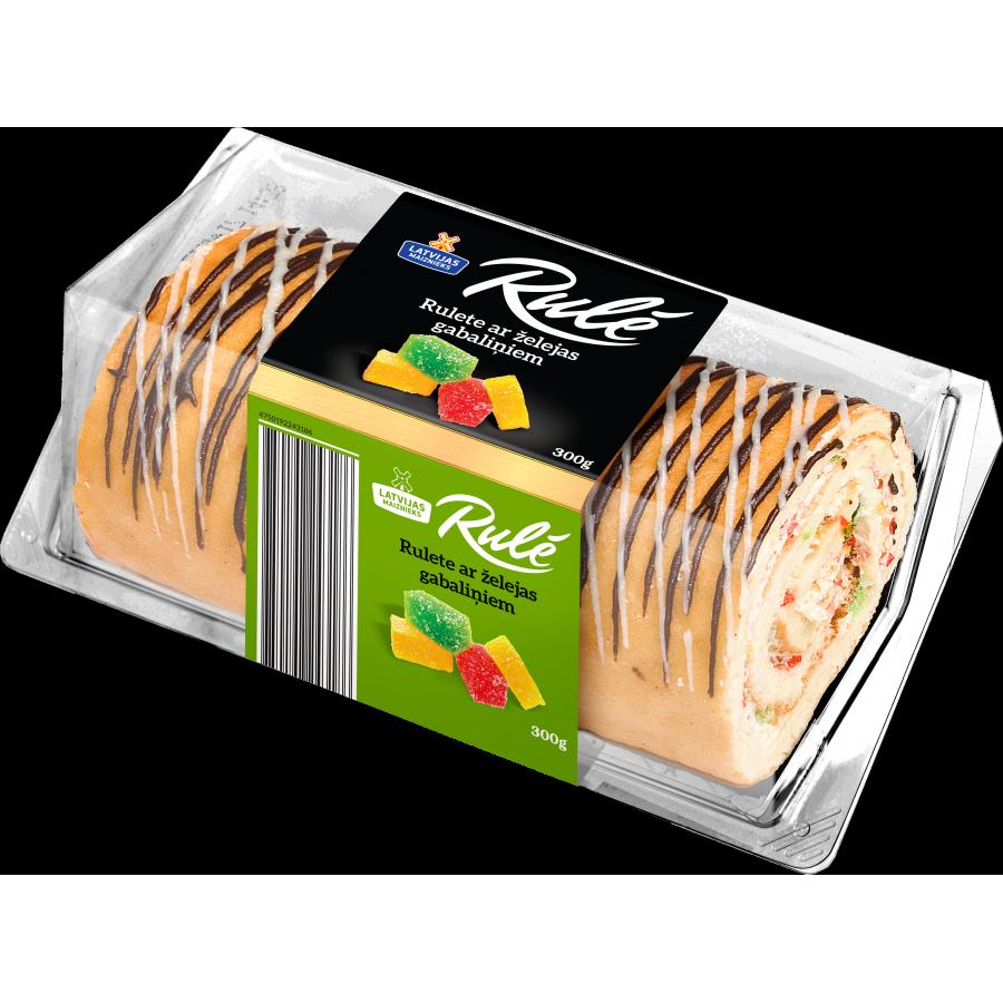 """""""Rulē"""" rulete ar želejas gabaliņiem"""
