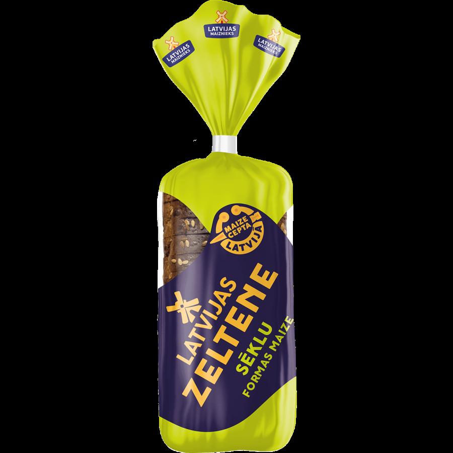 """LATVIJAS ZELTENE"" formas maize ar sēklām"