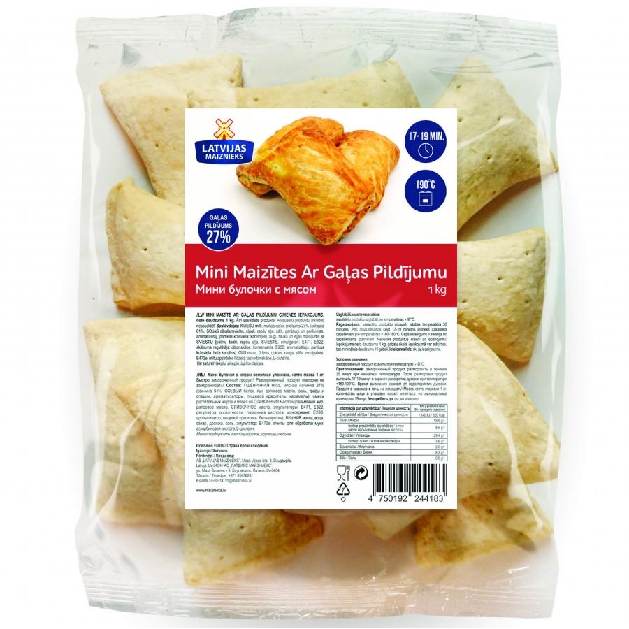 Mini maizītes ar gaļas pildījumu