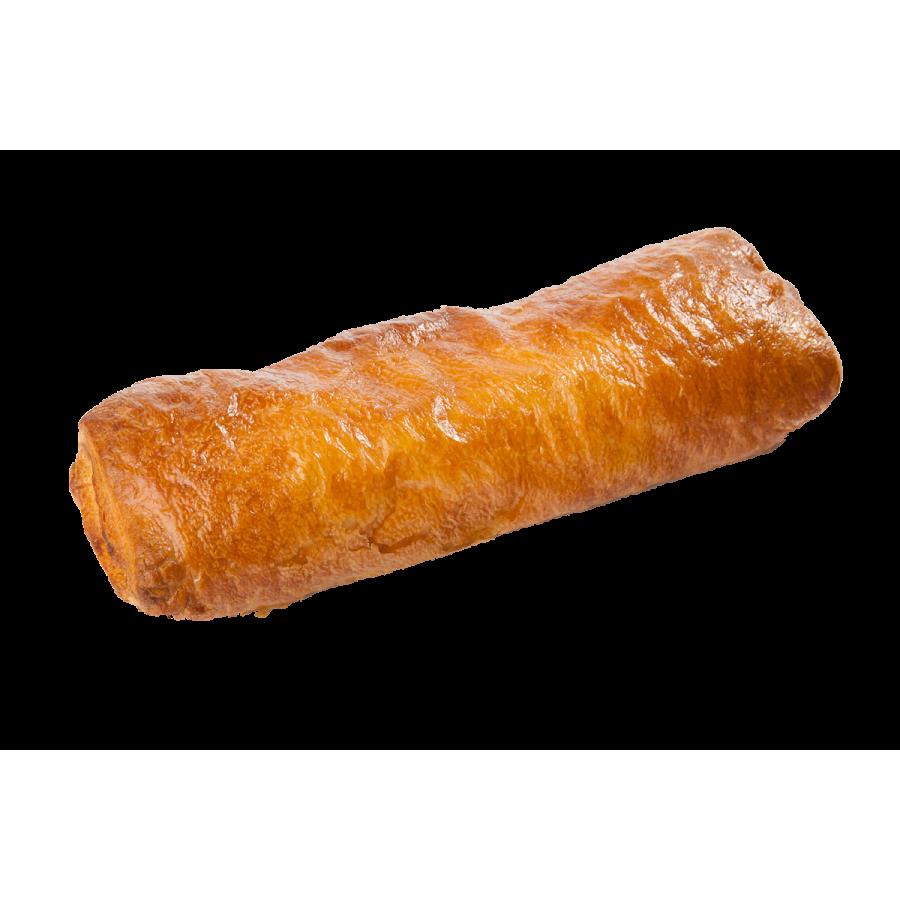 Pīrādziņš ar cīsiņu un sinepju – gurķu pildījumu