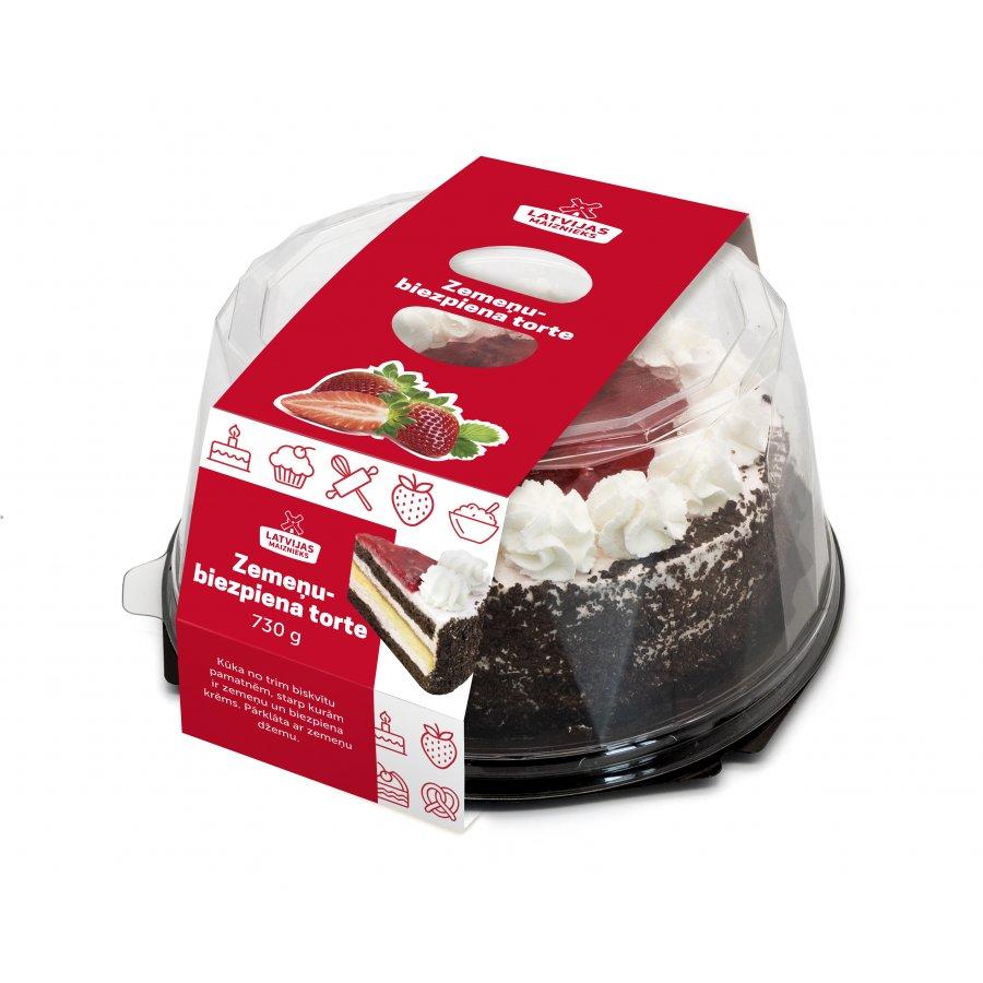 Zemeņu-biezpiena torte